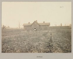 Crime, Women: United States. New York. Hudson. House of Refuge for Women: State House of Refuge for Women, Hudson, N.Y.: Barns.   Social Museum Collection