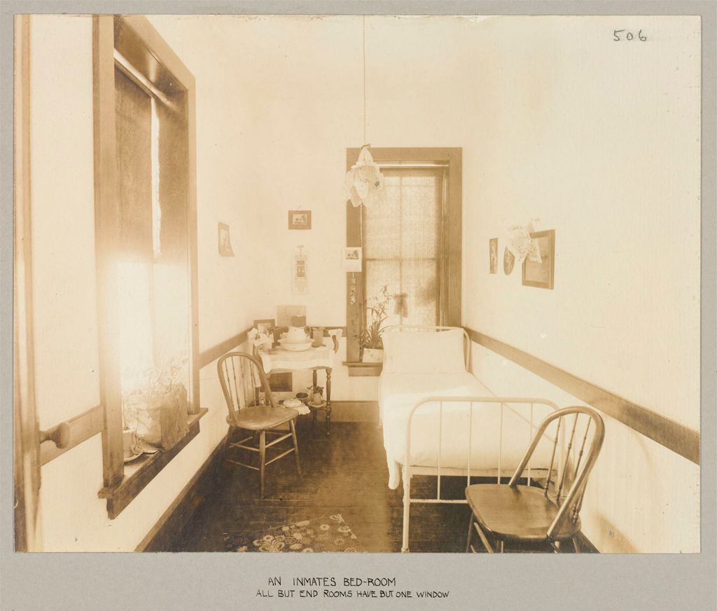 Crime, Women: United States. New York. Bedford. State Reformatory For Women: State Reformatory For Women, Bedford, N.y.: An Inmate's Bed-Room: All But End Rooms Have But One Window