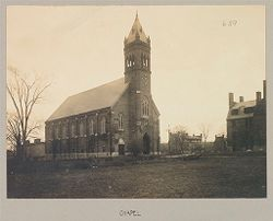 Crime, Women: United States. New York. Hudson. House of Refuge for Women: State House of Refuge for Women, Hudson, N.Y.: Chapel.   Social Museum Collection