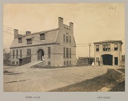 Crime, Women: Unites States. New York. Hudson. House of Refuge for Women: State House of Refuge for Women, Hudson, N.Y.: Store-house; Gate-house.   Social Museum Collection