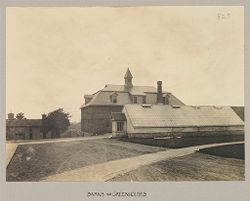 Defectives, Blind: United States. New York. Batavia. State School for the Blind: State School For the Blind, Batavia, N.Y.: Barns and Greenhouses.   Social Museum Collection