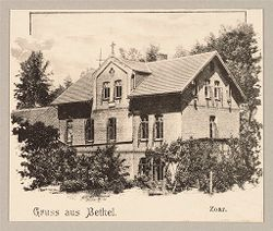 Defectives, Epileptics: Germany. Bielefeld. Kolonie Bethel: Anstalt Bethel (Philanthropic Institutions established by Pastor von Bodelschwingh), Bielefeld, Germany: Gruss aus Bethel. Zoar..   Social Museum Collection