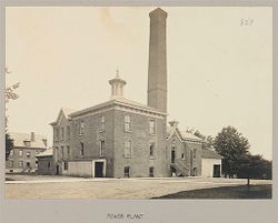 Defectives, Blind: United States. New York. Batavia. State School for the Blind: State School for the Blind, Batavia, N.Y.: Power Plant.   Social Museum Collection