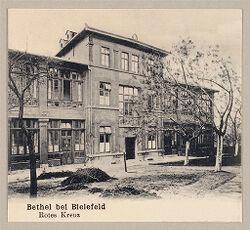 Defectives, Epileptics: Germany. Bielefeld. Kolonie Bethel: Anstalt Bethel (Philanthropic Institutions established by Pastor von Bodelschwingh), Bielefeld, Germany: Bethel bei Bielefeld. Rotes Kreuz.   Social Museum Collection