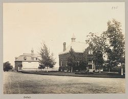 Defectives, Blind: United States. New York. Batavia. State School for the Blind: State School for the Blind, Batavia, N.Y.: Hospital: Barns.   Social Museum Collection