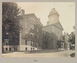 Defectives, Blind: United States. New York. Batavia. State School for the Blind: State School for the Blind, Batavia, N.Y.: Main Buildings: Front.   Social Museum Collection