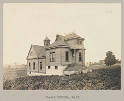 Defectives, Blind: United States. New York. Batavia. State School for the Blind: State School For the Blind, Batavia, N.Y.: Sewage Disposal House.   Social Museum Collection