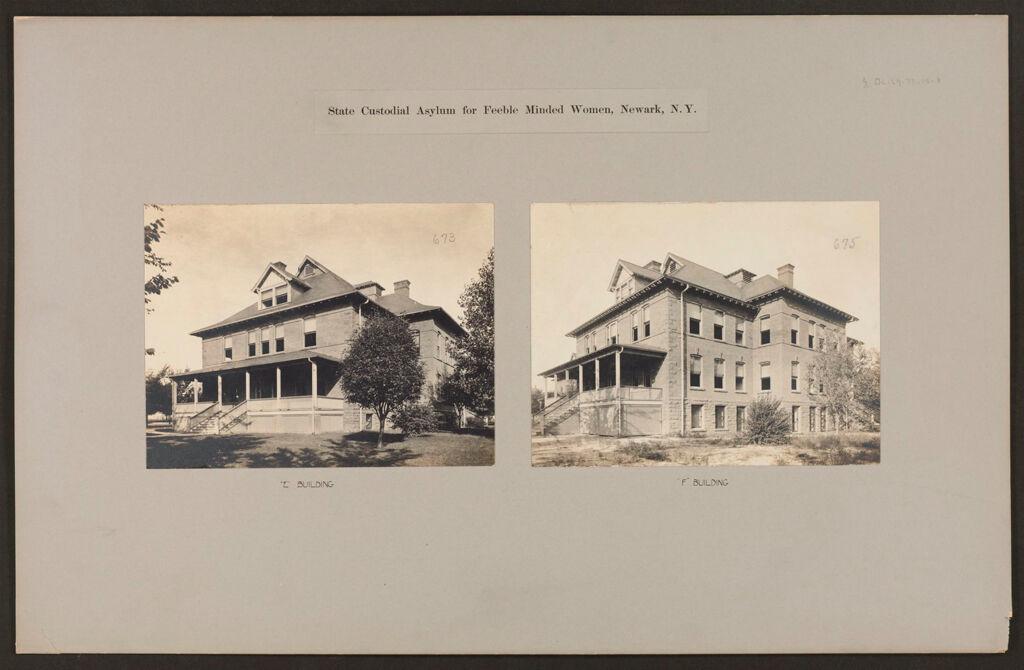 Defectives, Feeble-Minded: United States. New York. Newark. State Custodial Asylum For Feeble-Minded Women: State Custodial Asylum For Feeble Minded Women, Newark, N.y.