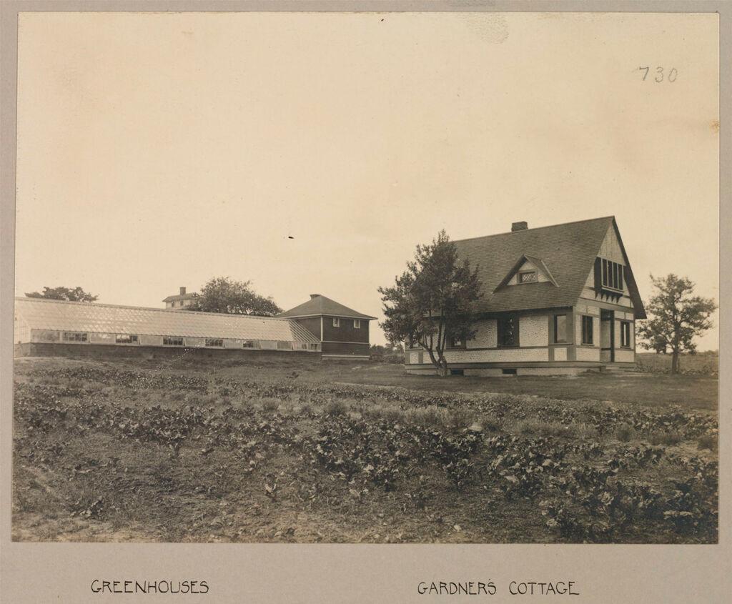 Defectives, Epileptics: United States. New York. Sonyea. Craig Colony: Craig Colony, Sonyea, N.y.: Greenhouses; Gardner's Cottage