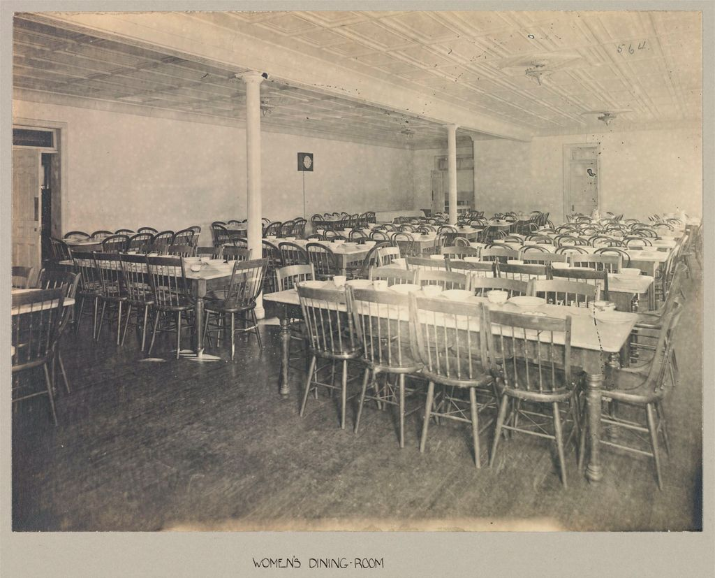 Defectives, Feeble-Minded: United States. New York. Rome. State Custodial Asylum: State Custodial Asylum, Rome, N.y.: Women's Dining-Room