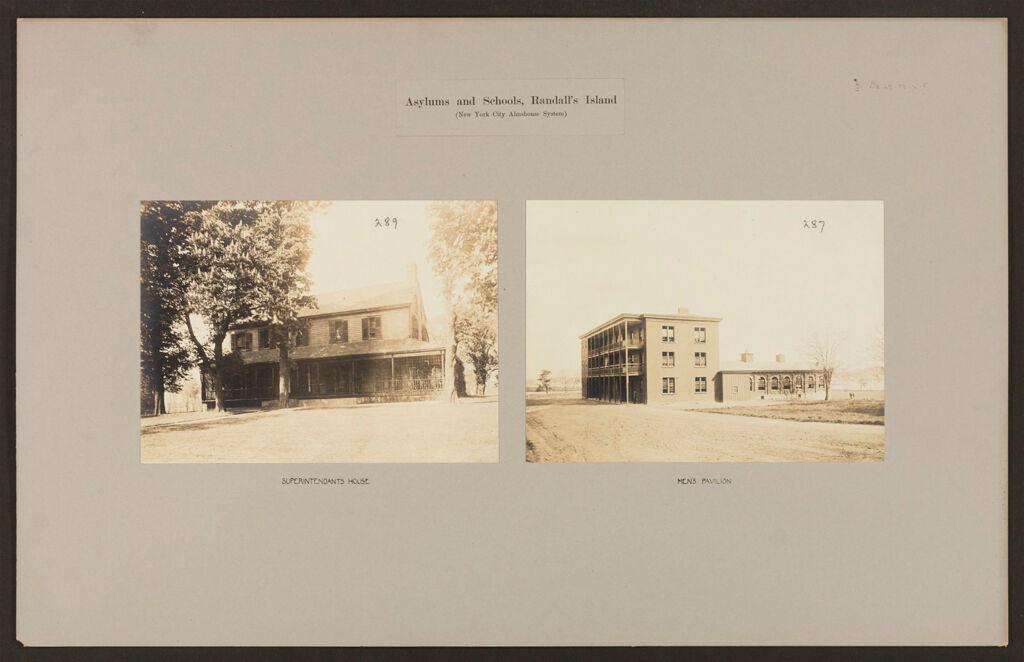 Defectives, Feeble-Minded: United States. New York. New York City. Randall's Island, Asylum And School For Feeble-Minded: Asylums And Schools, Randall's Island (New York City Almshouse System)