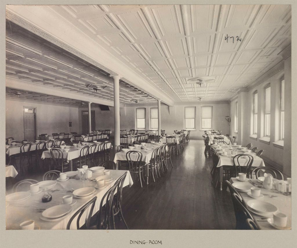 Defectives, Feeble-Minded: United States. New York. Rome. State Custodial Asylum: State Custodial Asylum, Rome, N.y.: Dining-Room