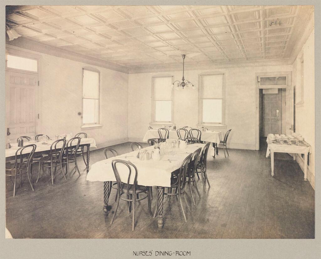 Defectives, Feeble-Minded: United States. New York. Rome. State Custodial Asylum: State Custodial Asylum, Rome, N.y.: Nurses' Dining-Room