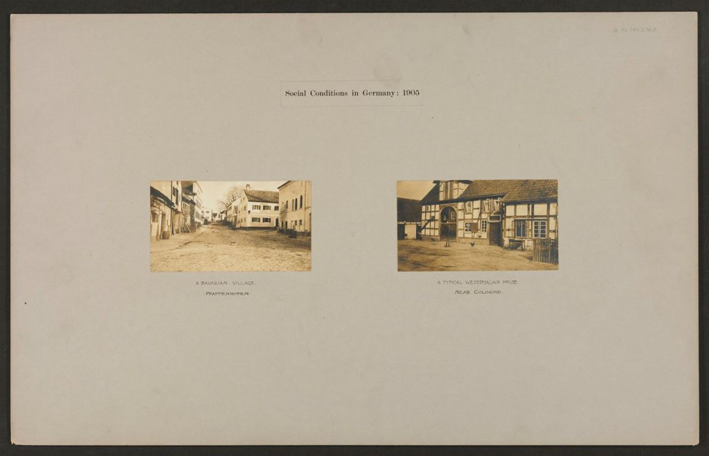 Housing, Improved: Germany. Cologne. Improved Workmen's Dwellings: Social Conditions In Germany: 1905