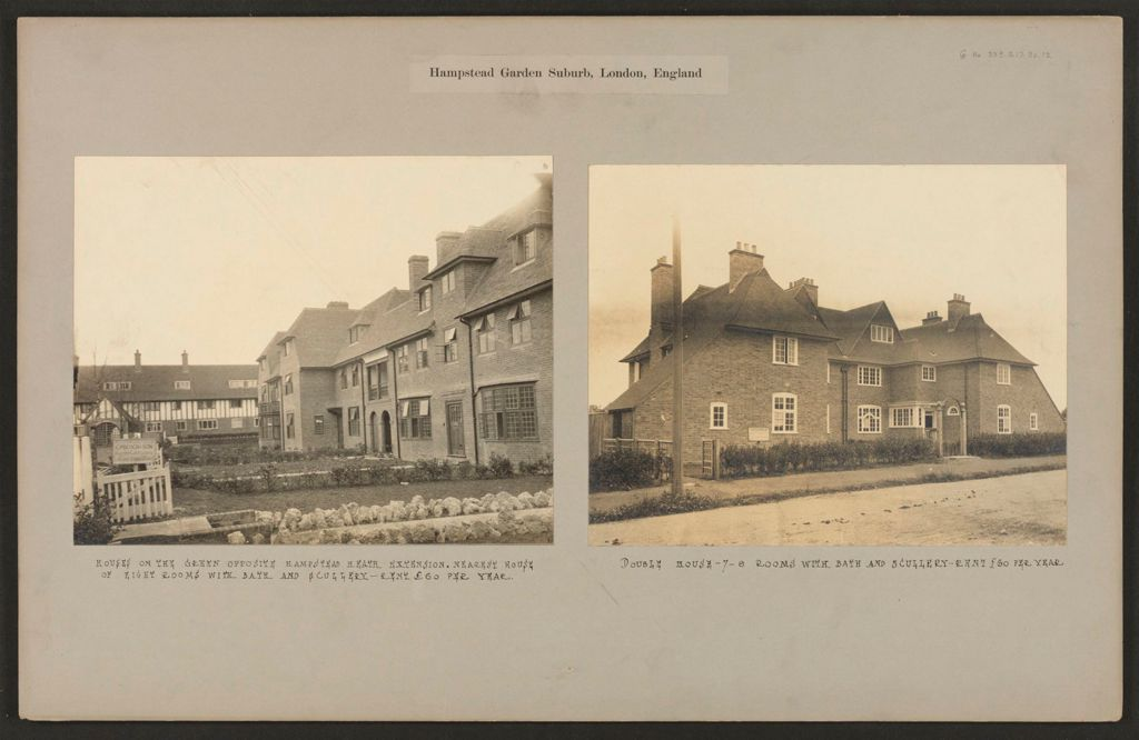 Housing, Improved: Great Britain, England. Hampstead. Garden Suburb (Copartnership And Private) Plans Of Estate And Cottages: Hampstead Garden Suburb, London, England