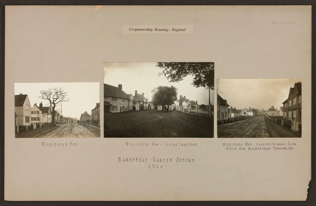 Housing, Improved: Great Britain, England. Hampstead. Garden Suburb (Copartnership And Private) Plans Of Estate And Cottages: Co-Partnership Housing: England: Hampstead Garden Suburb. 1910