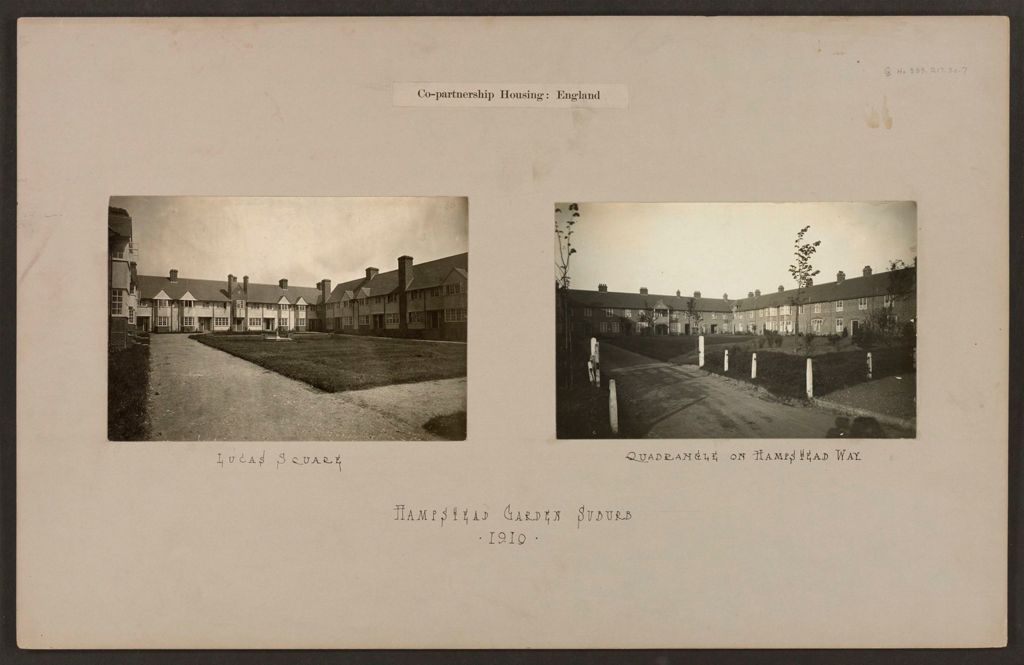 Housing, Improved: Great Britain, England. Hampstead. Garden Suburb (Copartnership And Private) Plans Of Estate And Cottages: Co-Partnership Housing: England: Hampstead Garden Suburb 1910