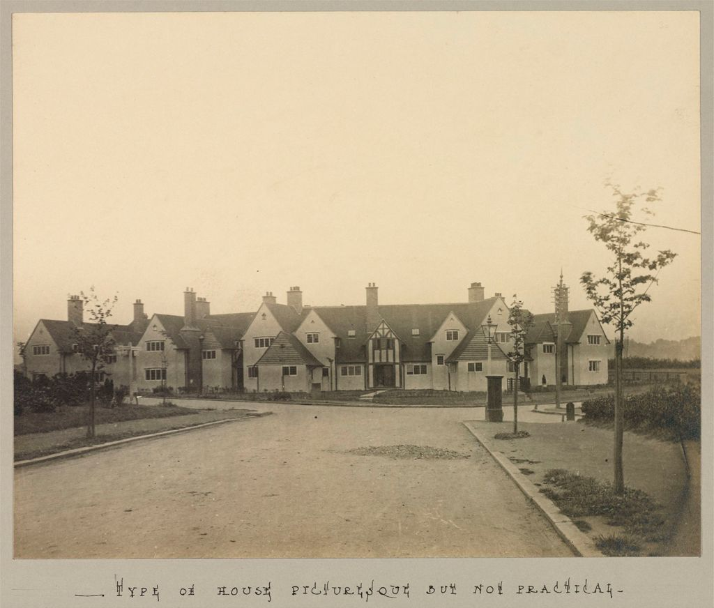 Housing, Improved: Great Britain, England. Hampstead. Garden Suburb (Copartnership And Private) Plans Of Estate And Cottages: Hampstead Garden Suburb, London, England: Type Of House Picturesque But Not Practical