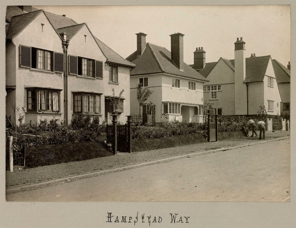Housing, Improved: Great Britain, England. Hampstead. Garden Suburb (Copartnership And Private) Plans Of Estate And Cottages: Co-Partnership Housing: England: Hampstead Garden Suburb. 1910: Hampstead Way