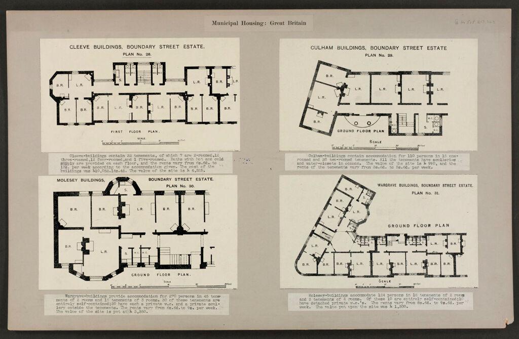 Housing, Improved: Great Britain, England. London. Boundary Street Area: Municipal Housing: Great Britain