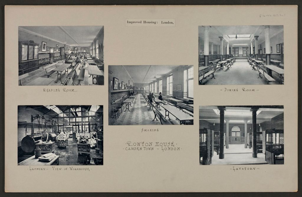 Housing, Improved: Great Britain, England. London. Rowton House: Improved Housing: London: Rowton House, Camden Town, London