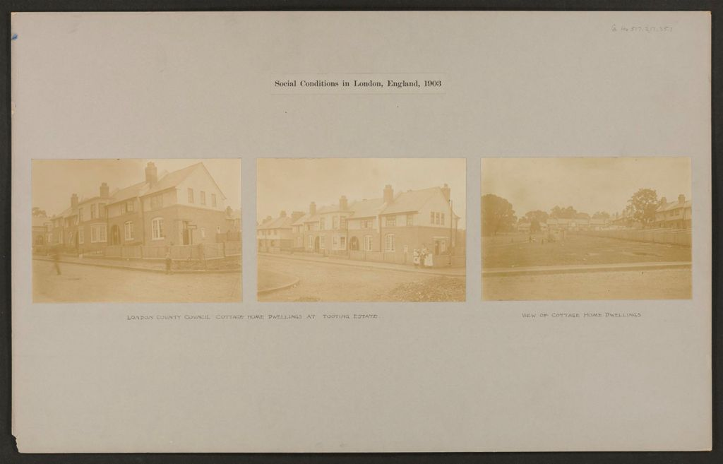 Housing, Improved: Great Britain, England. London. Tooting Estate: Social Conditions In London, England, 1903