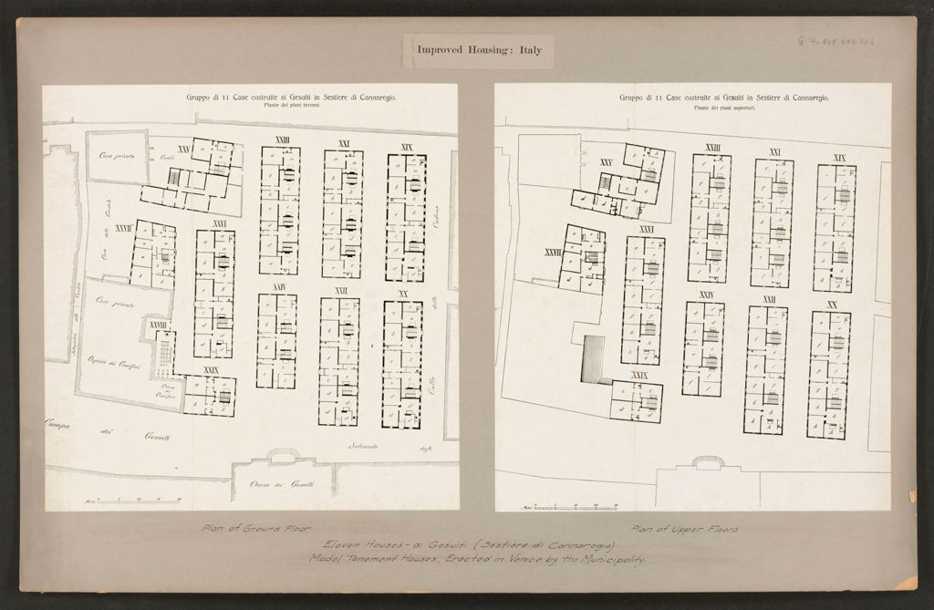 Housing, Improved: Italy: Venice: Municipal Tenements: Improved Housing: Italy: Eleven Houses - Ai Gesuiti (Sestiere Di Cannaregio): Model Tenement Houses, Erected In Venice By The Municipality