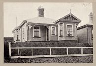 Housing, Improved: New Zealand. Wellington. Cottages Erected by the Government (Minister of Labour): State Housing: New Zealand: Coromandel Street Wellington: Wooden house renting for 15/11 ($3.82) per week.