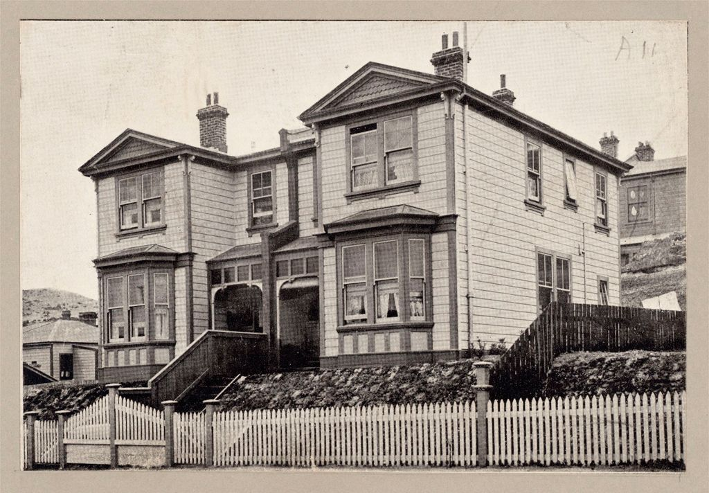 Housing, Improved: New Zealand. Wellington. Cottages Erected By The Government (Minister Of Labour): State Housing: New Zealand: Wooden Houses Renting For 15/3 ($3.66) Per Week. Coromandel Street, Wellington.