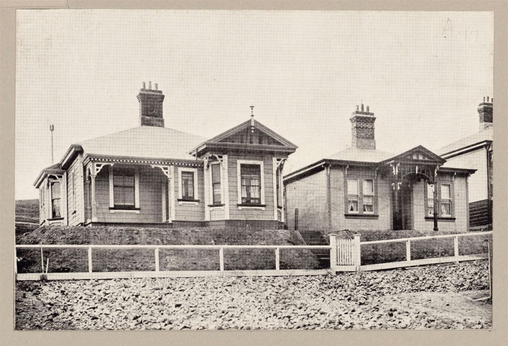 Housing, Improved: New Zealand. Wellington. Cottages Erected By The Government (Minister Of Labour): State Housing: New Zealand: Coromandel Street Wellington: Concrete House Renting For 13/6 ($3.24) Per Week.