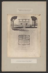 Housing, Industrial: United States. Virginia. Virginia Highlands: Experiments in Cheap Construction. Milton Dana Morrill System: A fire-proof and sanitary house of 4 rooms, bath and roof garden. Estimate, in groups, $1000.-.   Social Museum Collection