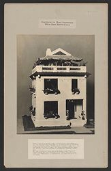 Housing, Industrial: United States. Virginia. Virginia Highlands: Experiments in Cheap Construction. Milton Dana Morrill System: Prize model of a poured house, awarded first Gold Medal by the 6th International Congress on the Prevention of Tuberculosis.   Social Museum Collection