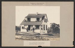 Housing, Industrial: United States. Virginia. Virginia Highlands: Experiments in Cheap Construction. Milton Dana Morrill System: One of the Morrill System of poured houses at Virginia Highlands, Va., 6 rooms and bath with furnace heat.   Social Museum Collection