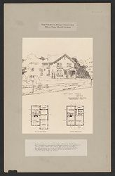 Housing, Industrial: United States. Virginia. Virginia Highlands: Experiments in Cheap Construction. Milton Dana Morrill System: Poured house of the 6 room type at Virginia Highlands, Va., affording a maximum of available space at a minimum of cost..   Social Museum Collection