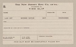 Housing, Industrial: United States. Pennsylvania. Palmerton: New Jersey Zinc Company: The New Jersey Zinc Co. (of PA.) Palmerton, PA.: Time Slip: B..   Social Museum Collection