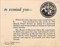 Charity, Organizations: United States. Massachusetts. Boston. Publicity For Social Work. (1) Letter Heads. (2) Inserts. (3) Subscription Blanks: The Church Home Society: To Remind You ?