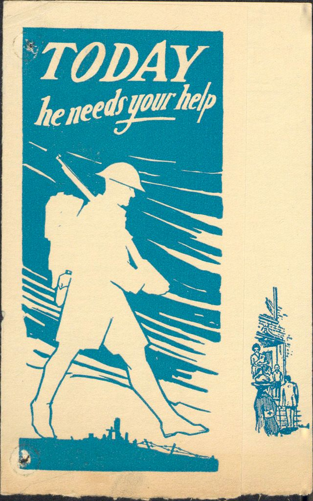 Charity, Organizations: United States. Massachusetts. Boston. Publicity For Social Work. Leaflets & Folders: Today He Needs Your Help: Boston Metropolitan Chapter American Red Cross