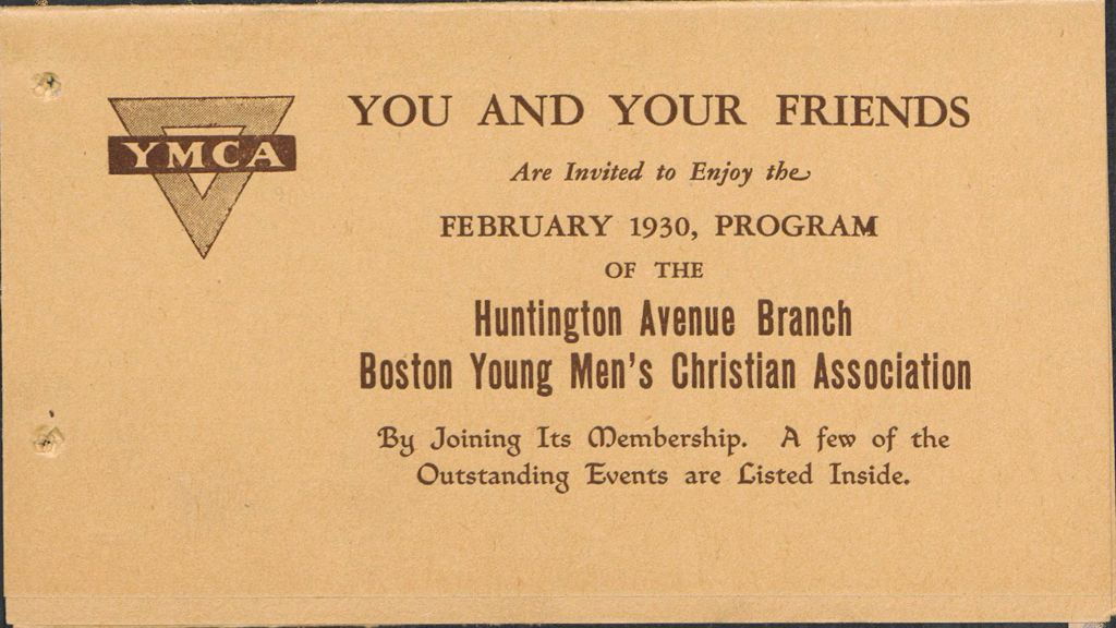 Charity, Organizations: United States. Massachusetts. Boston. Publicity For Social Work. Leaflets & Folders: Boston Young Men's Christian Association