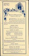 Charity, Organizations: United States. Massachusetts. Boston. Publicity for Social Work. Leaflets & Folders: Boston Dispensary. Epochs of Progress