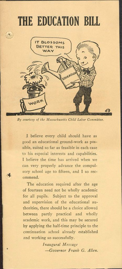 Charity, Organizations: United States. Massachusetts. Boston. Publicity For Social Work: Booklets: The Education Bill: Massachusetts Civic League, Inc.