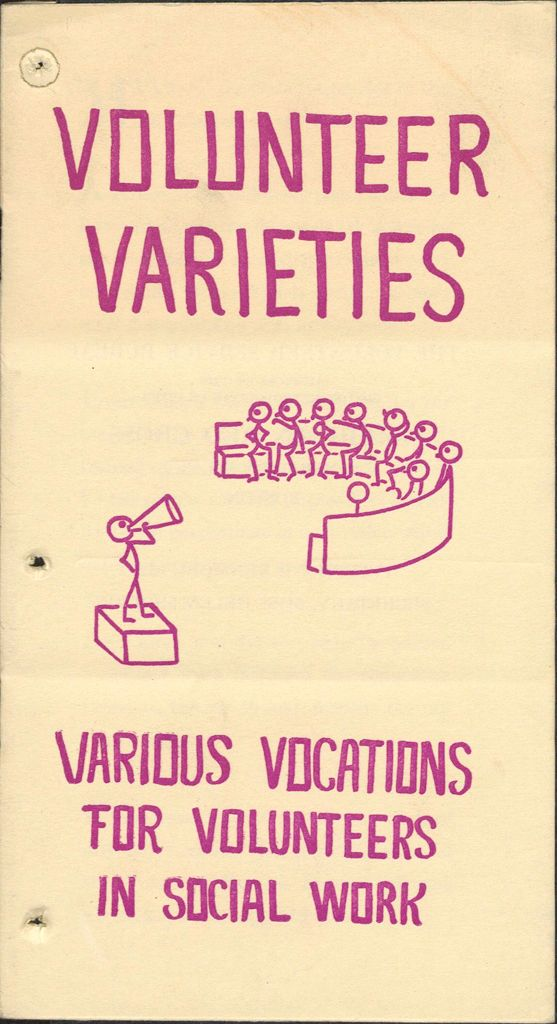 Charity, Organizations: United States. Massachusetts. Boston. Publicity For Social Work: Booklets: Volunteer Varieties: Various Vocations For Volunteers In Social Work: The Volunteer Service Bureau: Auspices Of The Boston Metropolitan Chapter American Red Cross.