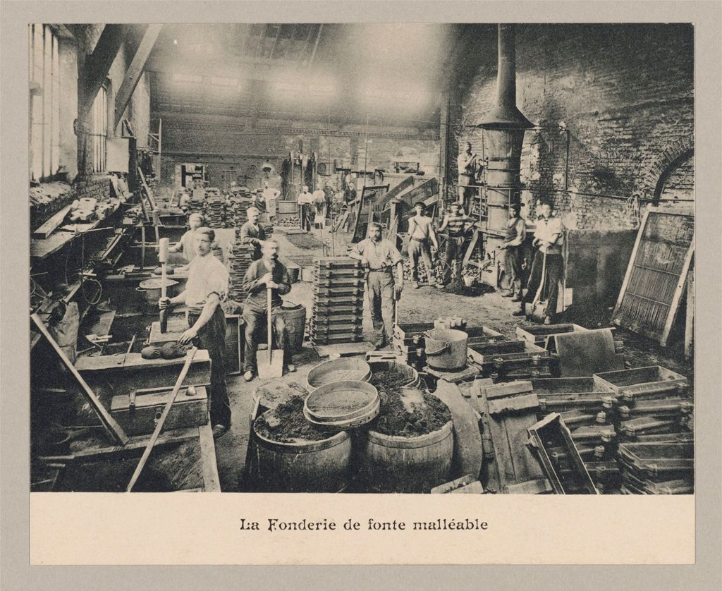 Industrial Problems, Welfare Work: France. Guise. Familistère De Guise: Le Familistère De Guise (Founded By M. Godin, 1859), Guise, France: The Workshops.