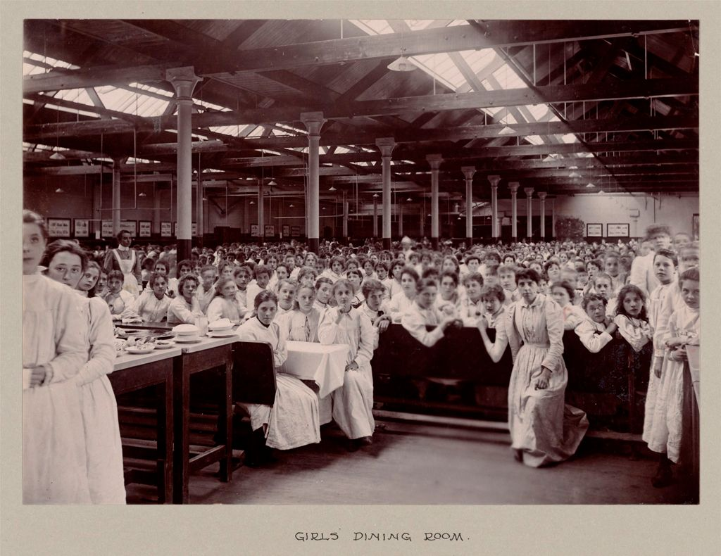 Industrial Problems, Welfare Work: Great Britain. England. Bourneville: Cadbury Bros.: Welfare Institutions And Improved Housing: Bournville Works And Village, Bournville, England: Cocoa And Chocolate Works Of Cadbury Brothers, Ltd. The Bournville Village Trust: Girls' Dining Room.