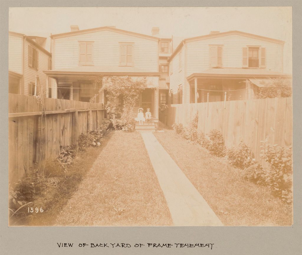 Industrial Problems, Welfare Work: United States. Maryland. Sparrow's Point. Maryland Steel Company: Maryland Steel Company, Sparrows Point, Md.: View Of Back Yard Of Frame Tenement