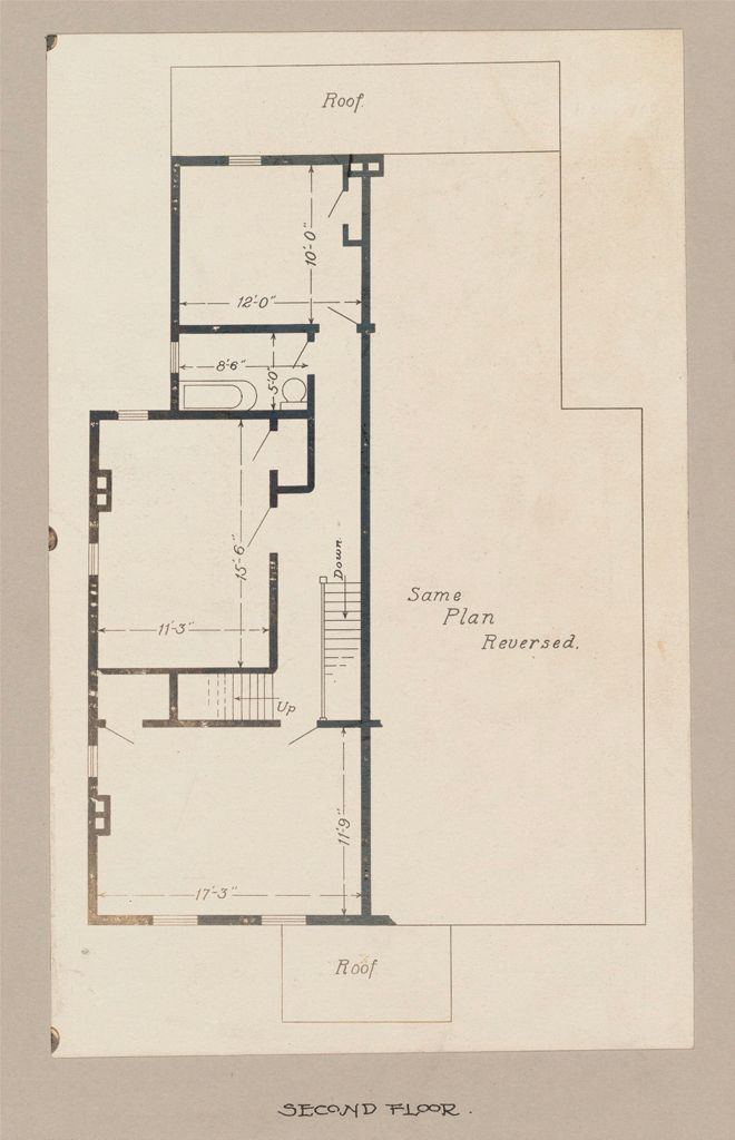 Industrial Problems, Welfare Work: United States. Maryland. Sparrow's Point. Maryland Steel Company: Industrial Betterment In The United States. Housing Of Working People By Employers: Maryland Steel Company, Sparrow's Point, Maryland. House For Employees. Plan H.: Second Floor.