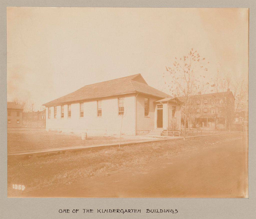 Industrial Problems, Welfare Work: United States. Maryland. Sparrow's Point. Maryland Steel Company: Provision Of Educational Facilities For Employees: Maryland Steel Company, Sparrows Point, Md.: One Of The Kindergarten Buildings