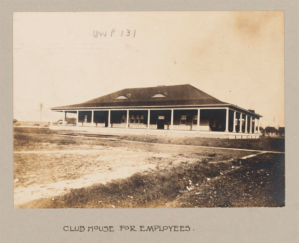 Industrial Problems, Welfare Work: United States. Maryland. Sparrow's Point. Maryland Steel Company: Provision Of Recreational Facilities For Employees: Maryland Steel Company, Sparrow's Point, Maryland: Club House For Employees