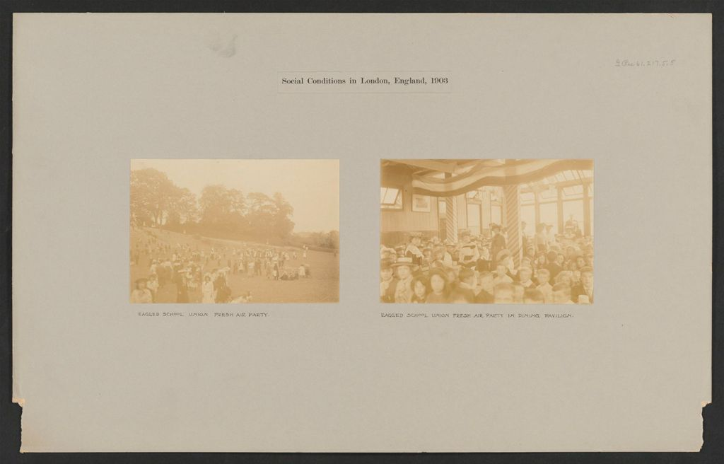 Recreation, Outings: Great Britain, England. London. Holiday House, Ragged School Union: Social Conditions In London, England, 1903