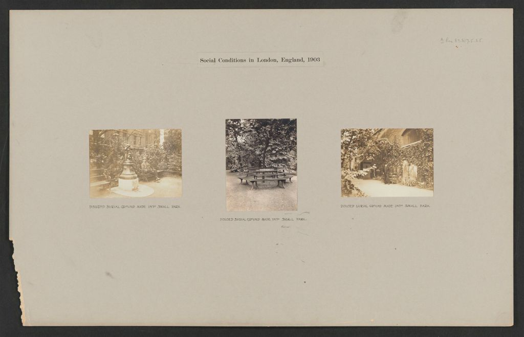 Recreation, Parks And Playgrounds: Great Britain, England. London. Playgrounds And Parks: Social Conditions In London, England, 1903
