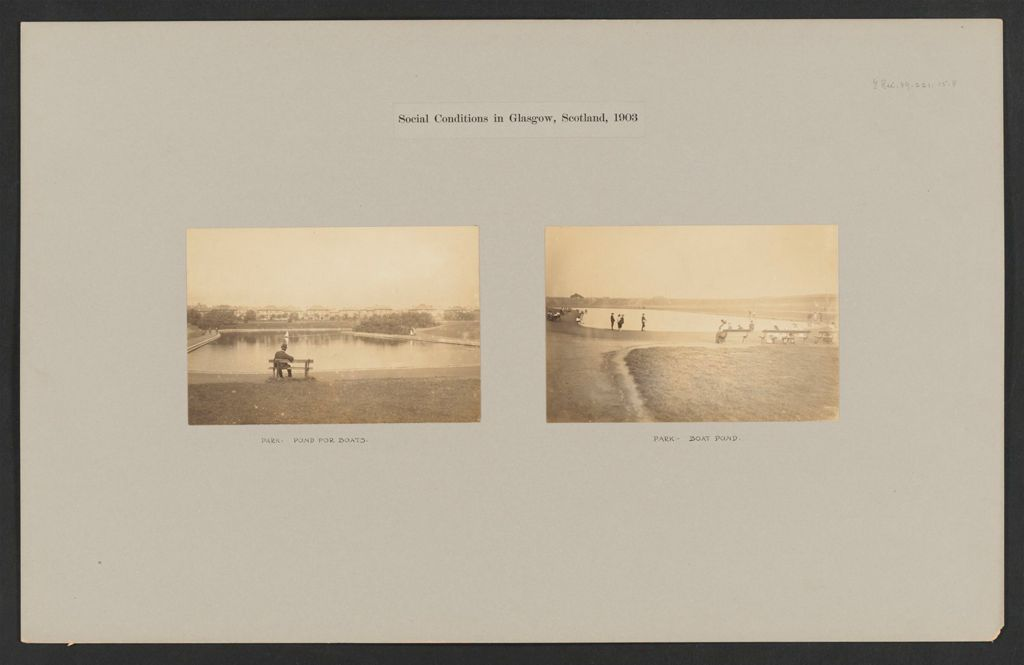 Recreation, Parks And Playgrounds: Great Britain, Scotland. Glasgow. Public Park: Social Conditions In Glasgow, Scotland, 1903